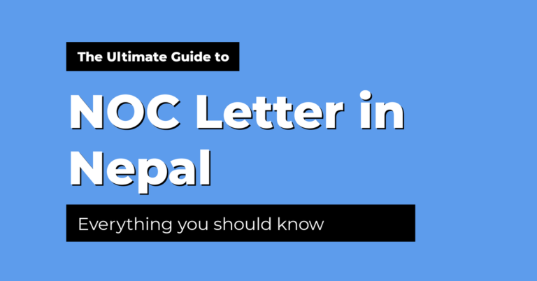 no objection certificate noc in nepal guide