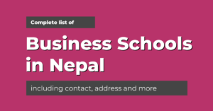List of business schools in nepal