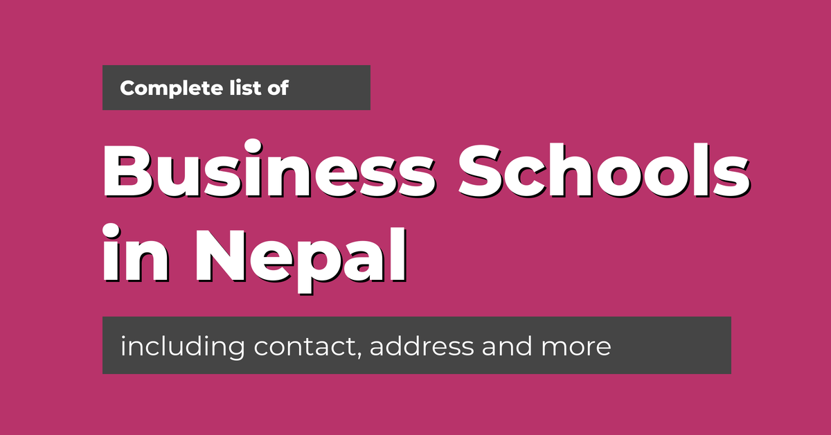 List of business schools in nepal