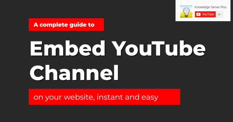 embed youtube channel on your website guide