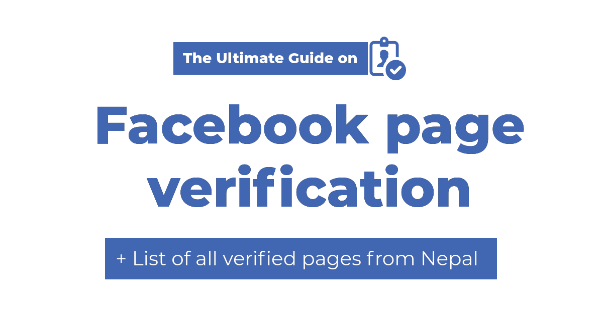 facebook page verification in nepal