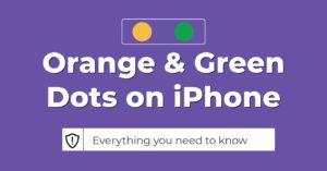 orange amd green dots on iphone ios 14
