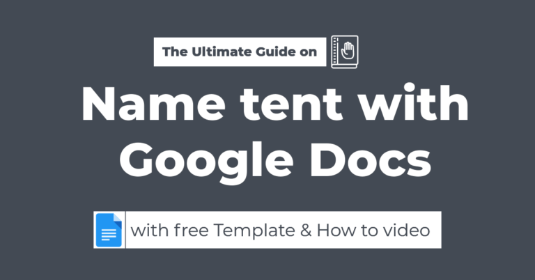 create name tent with google docs
