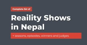 reality shows in nepal