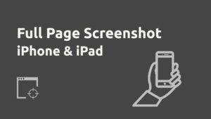 full page screenshot on ipad
