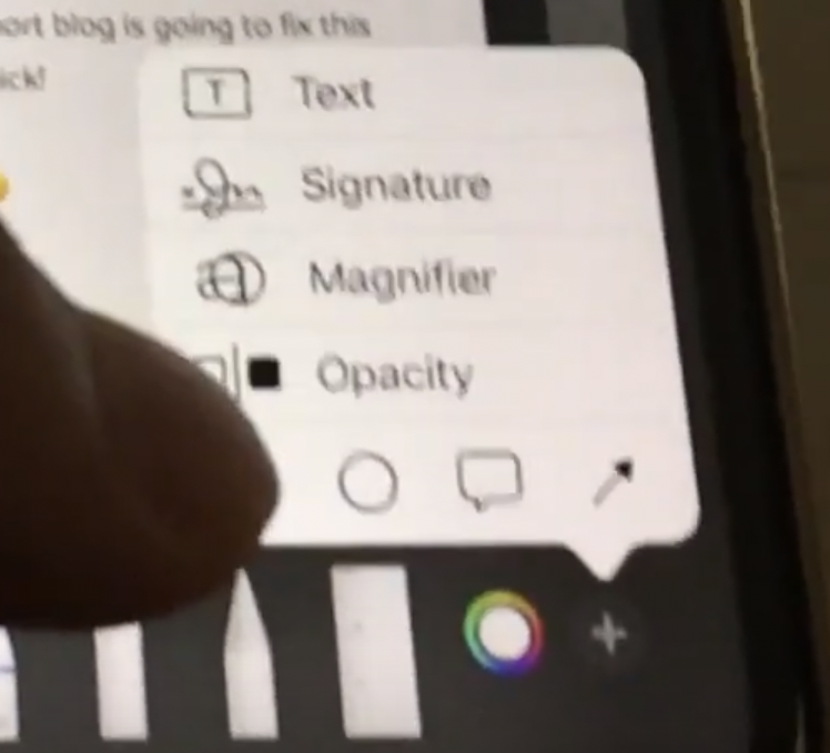 add signature markup fullpage screenshot on iphone