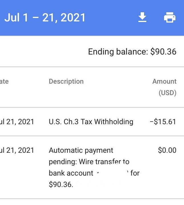 what it means when your payment is pending in adsense