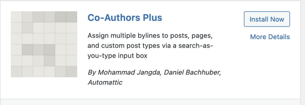 multiple authors plugin in wordpress