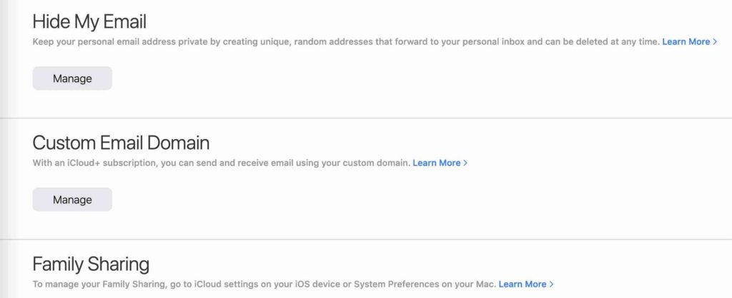 custom email domain setup icloud